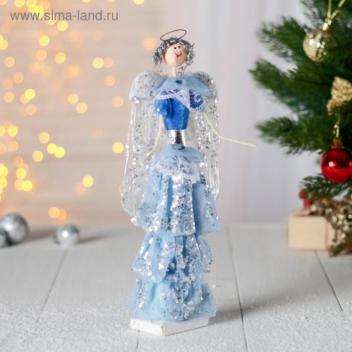 """Фигурка новогодняя """"Воздушный ангел в голубом платье"""""""