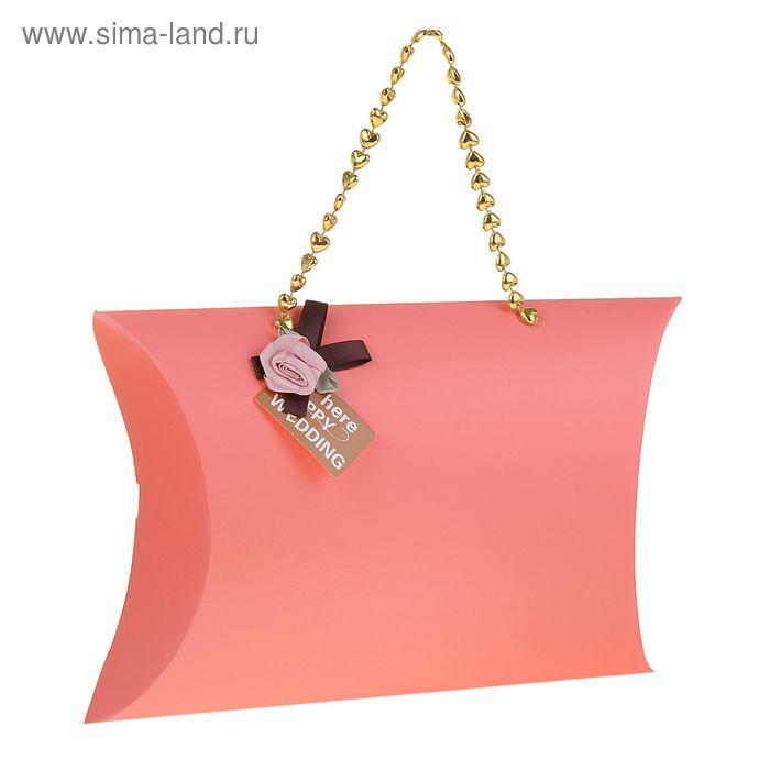 "Коробка-подушка складная ""Розочка"", цвет розовый"