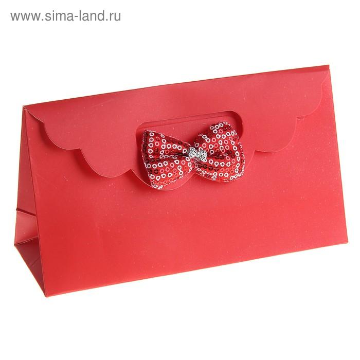 """Пакет с клапаном """"Текстильный бант"""", цвет красный"""
