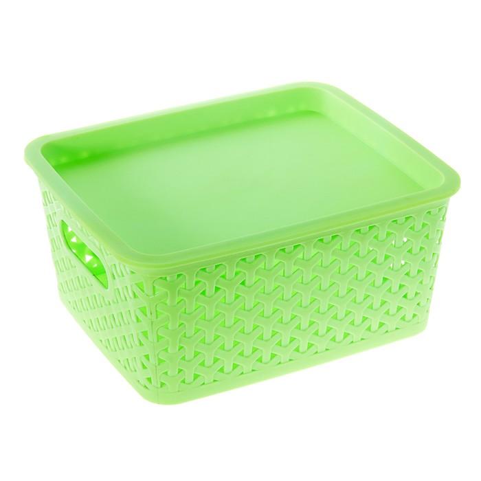 """Корзина для хранения """"Плетенка"""", зеленый"""