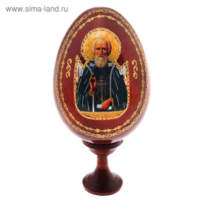 """Сувенир Яйцо на подставке икона """"Сергий Радонежский"""""""