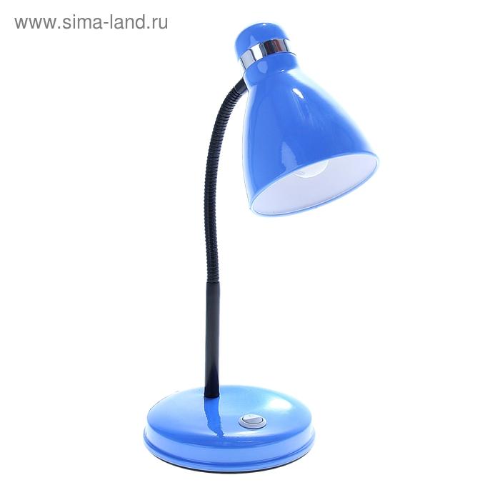 """Лампа настольная с выкл. """"Простота"""" голубая"""
