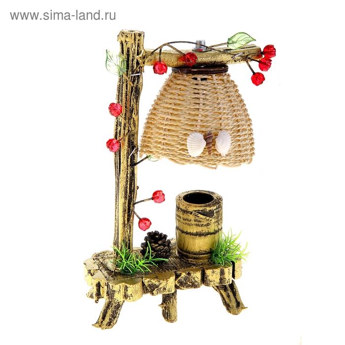 """Светильник деревянный """"Ягодки"""""""