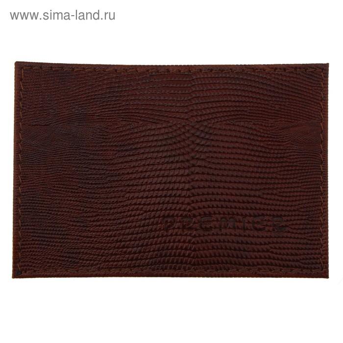 Футляр для карточки, коричневая игуана