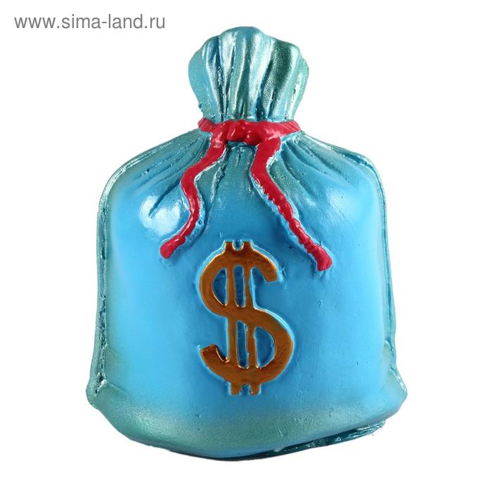 "Копилка ""Мешок: доллар"" синяя"