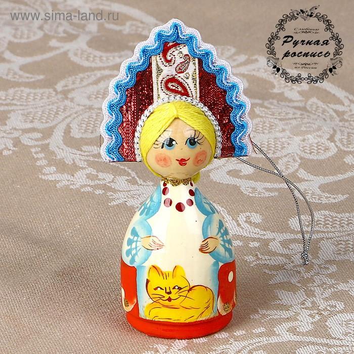 Кукла средняя в кокошнике 10 см микс