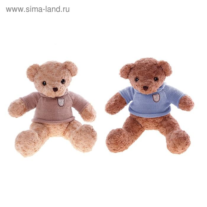 """Мягкая игрушка """"Медведь в кофте с эмблемой"""" средний, цвета МИКС"""