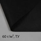 Материал укрывной, 10 х 3.2 м, плотность 60 г/м², УФ, чёрный