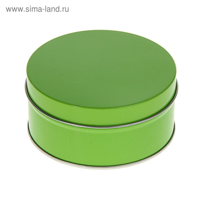 """Коробка-шкатулка """"Круг"""" зелёная"""