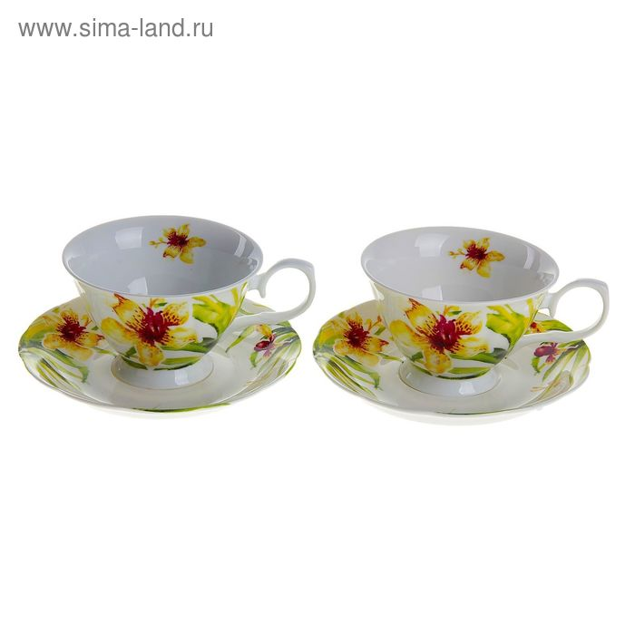 "Сервиз чайный ""Ирэн"", 4 предмета: 2 чашки 250 мл, 2 блюдца"