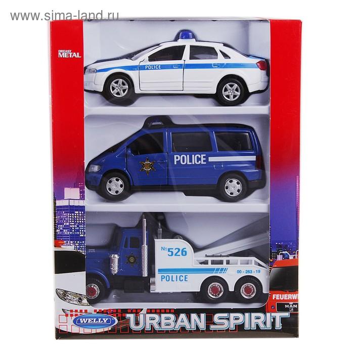 "Набор из 3-х машин ""Полиция"""