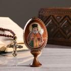 """Сувенир Яйцо на подставке икона """"Святой Лука"""""""