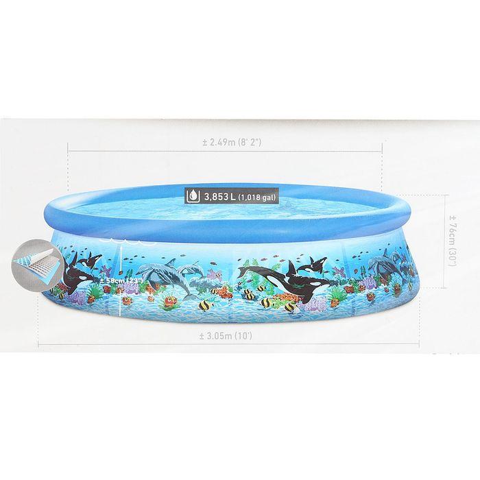 Бассейн надувной Easy Set, с рисунком, 305х76 см, фильтр-насос 28126 INTEX