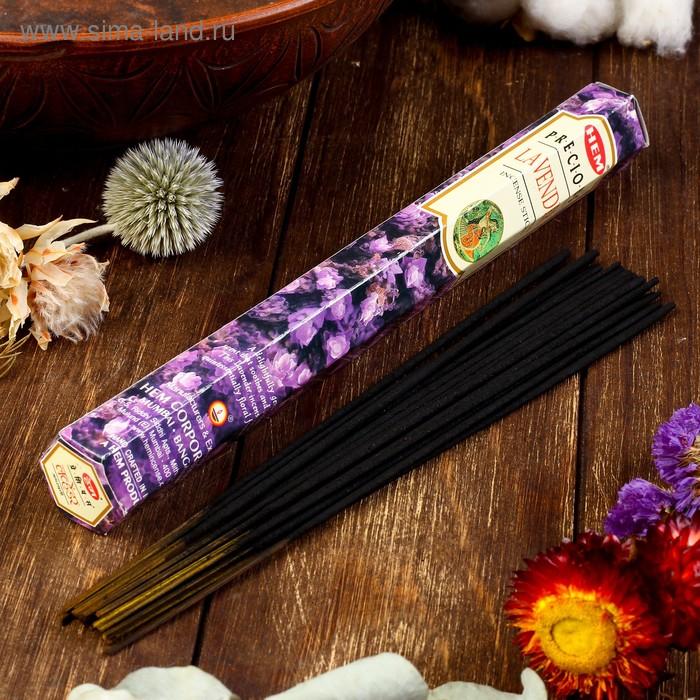 """Благовония """"HEM Precious Lavender"""" (Драгоценная лаванда), шестигранник, 20 палочек"""