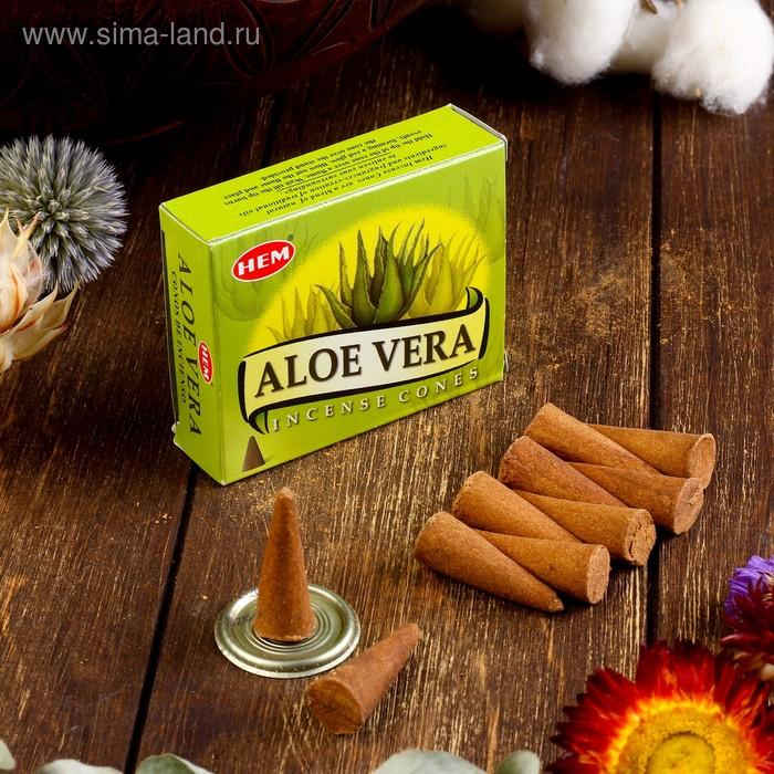 "Благовония ""HEM Aloe Vera"" (алоэ), 10 конусов"