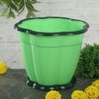"""Горшок для цветов 1,5 л """"Восторг"""", поддон, цвет зеленый"""