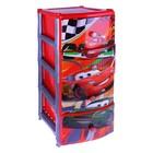 """Комод для игрушек """"Дисней"""" на колёсиках, 4 выдвижных ящика, цвет красный"""