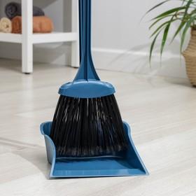 """Набор для уборки """"Комфорт"""", 2 предмета: совок, метла с черенком, цвета МИКС"""