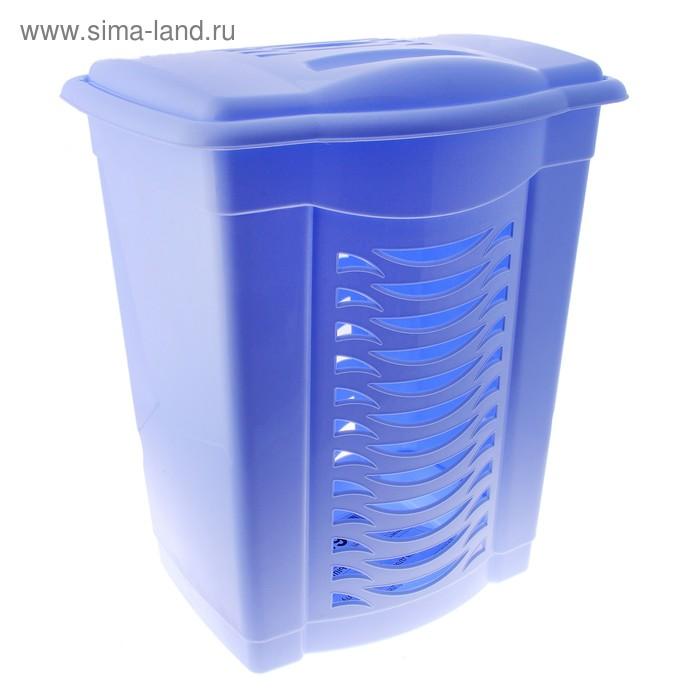Корзина для белья 60 л, цвет голубой