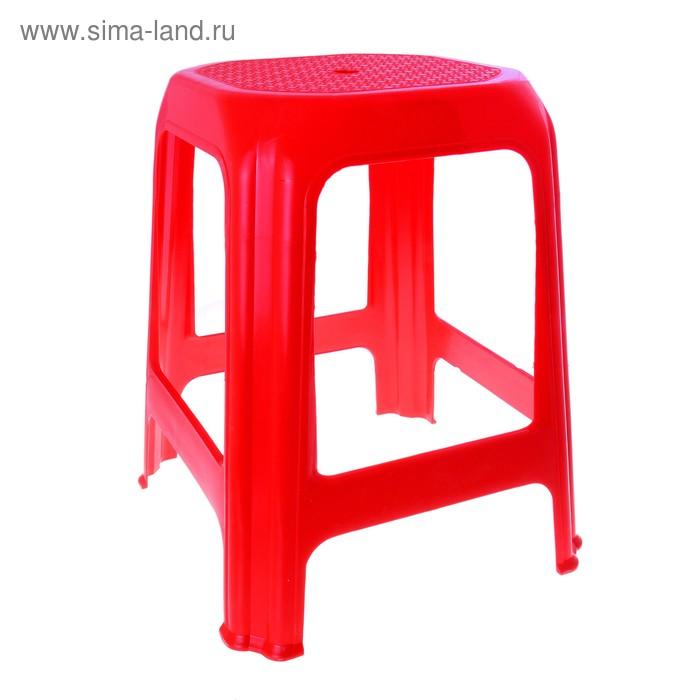 """Табурет квадратный """"Яркий"""", цвет красный"""