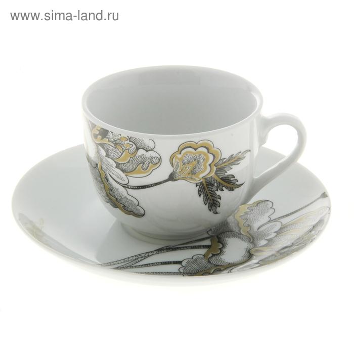 """Набор чайный """"Королевна"""", 2 предмета: чашка 220 мл, блюдце"""