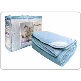 """Одеяло всесезонное Адамас """"Лебяжий пух"""", размер 200х220 ± 5 см, 300гр/м2, чехол поплин"""