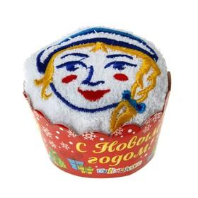 """Полотенце сувенирное с вышивкой """"Collorista"""" Снегурочка 28 х 28 см хлопок"""