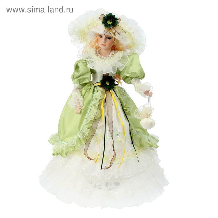 """Кукла коллекционная """"Леди в бело-салатовом"""""""