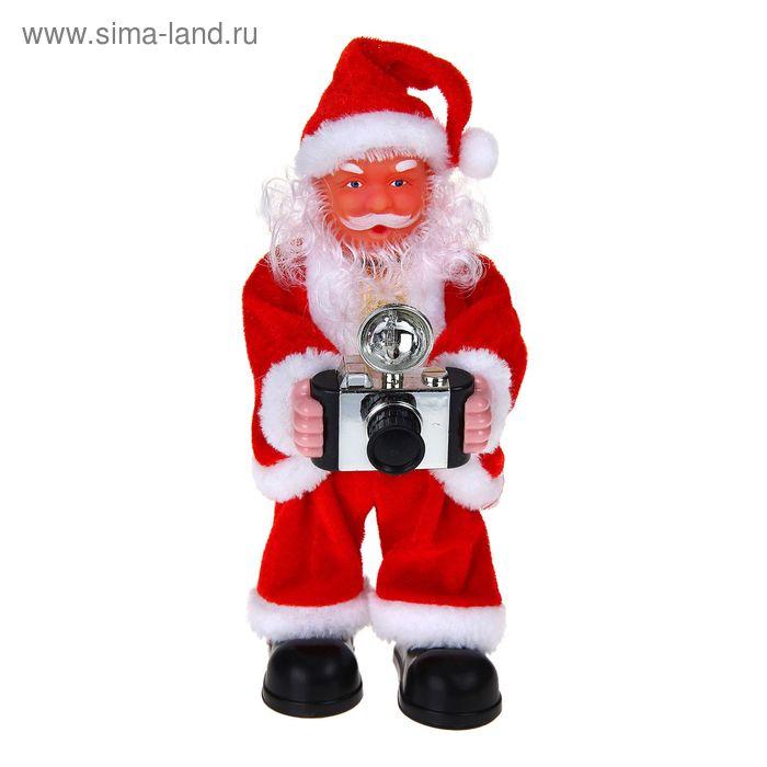 Дед Мороз фотограф (с подсветкой, английская мелодия)