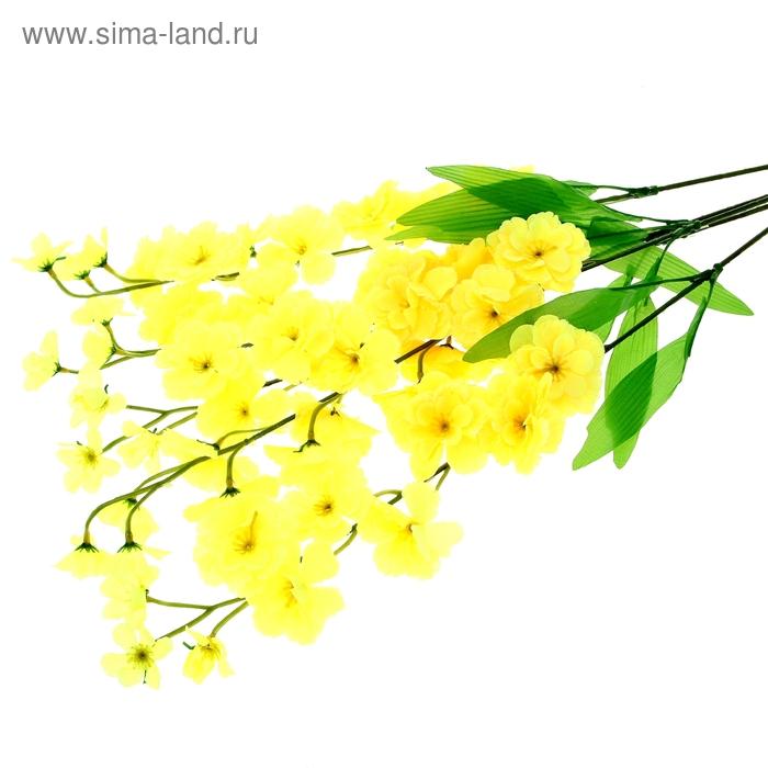 """Цветы искусственные """"Веточка жёлтой сакуры"""""""