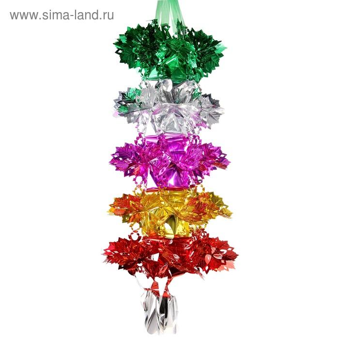 """Новогоднее украшение-растяжка """"Цветы"""""""