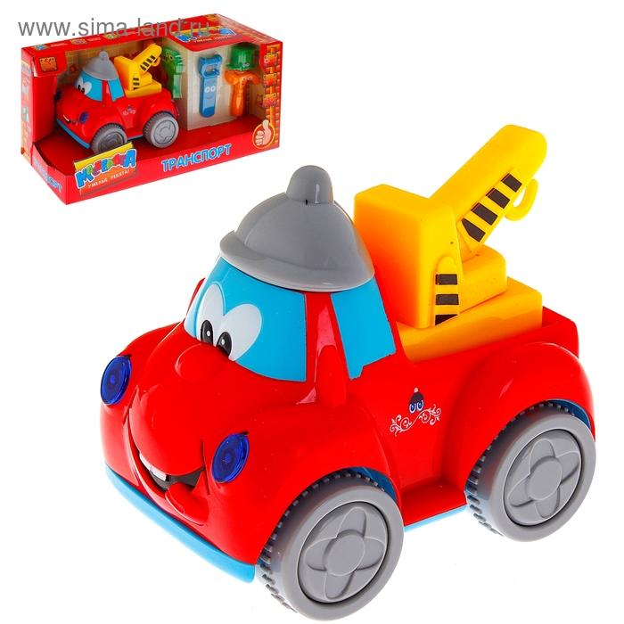 """Машина """"Пожарная"""", с инструментами, световые и звуковые эффекты, работает от батареек, МИКС"""