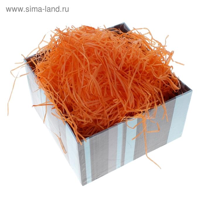Наполнитель декоративный бумажный 50 гр, цвет оранжевый