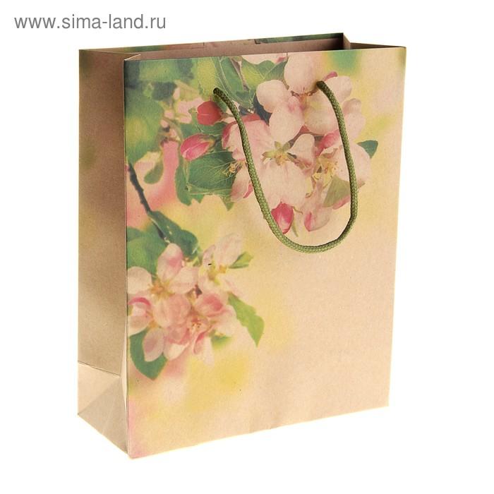 """Пакет крафт """"Весенний цветок"""""""