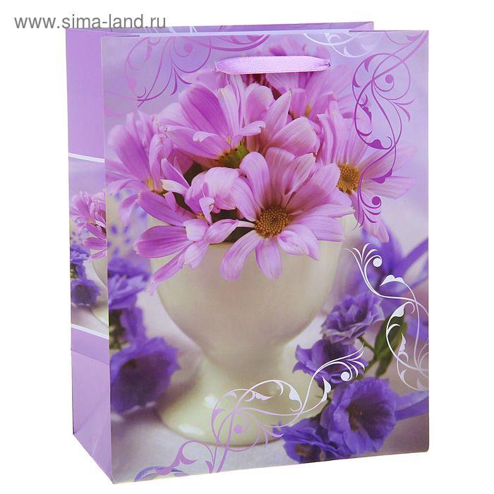 """Пакет ламинированный """"Ваза с цветами"""""""