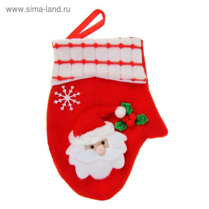 """Варежка """"Дед Мороз"""" (веточка омелы)"""