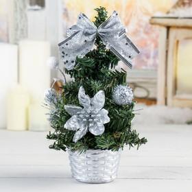 елка декор 20 см снежные шарики серебро