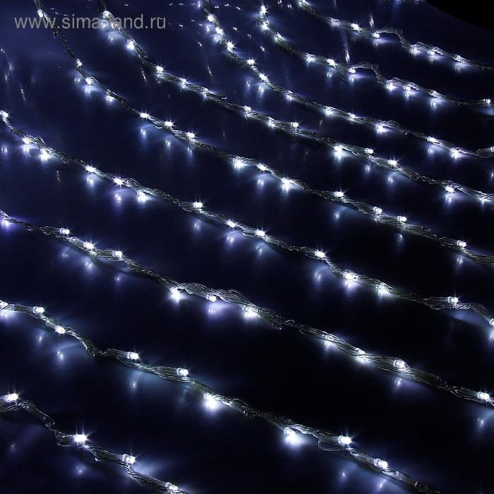 """Гирлянда """"Дождь"""" улич. Ш:2 м, В:6 м, нить силикон, LED-1500-220V, контр. 8 р, БЕЛЫЙ"""