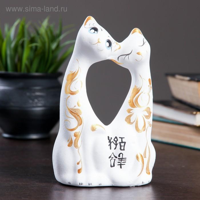 """Сувенир """"Коты влюбленные"""" большие белые"""