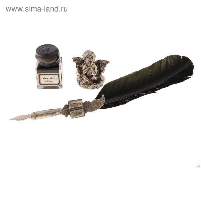Письменный набор (перо, чернила, подставка для пера)