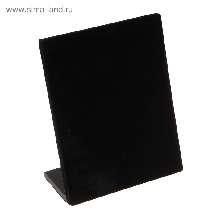Подставка под кольца чёрная, бархат, на 50 шт