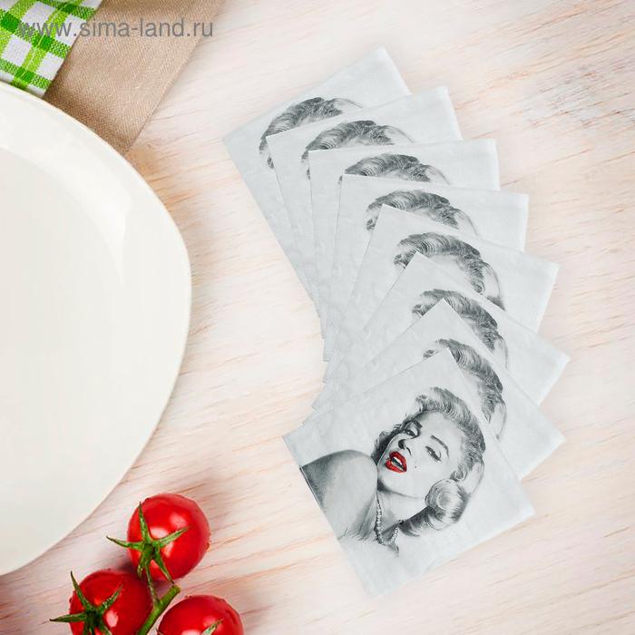 Салфетки бумажные (набор 20 шт) 33*33 см Мерлин Монро