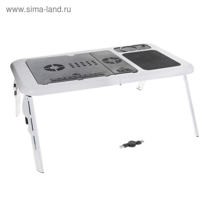 Стол для охлаждения ноутбука, 2 кулера, 56х32х4 см, USB,
