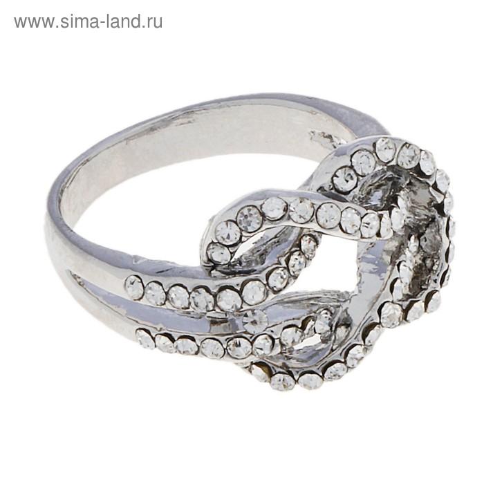 """Кольцо """"Переплетение"""", цвет серебро, размер МИКС"""