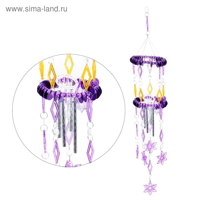 """Музыка ветра """"Ромбики, цветочки"""" 4 трубочки"""