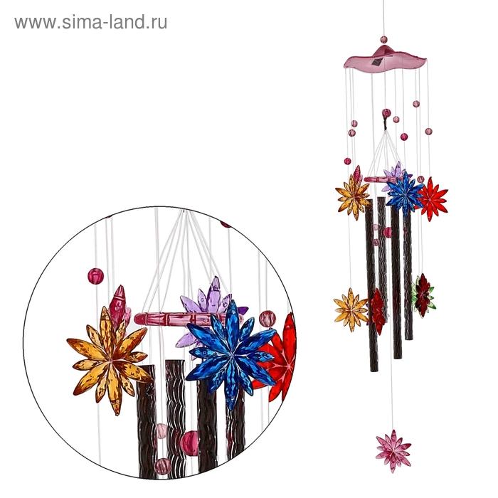 "Музыка ветра ""Цветок"" 4 трубочки, 11 фигурок"