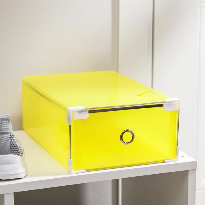 """Короб для хранения выдвижной """"Интрига"""", цвет желтый"""