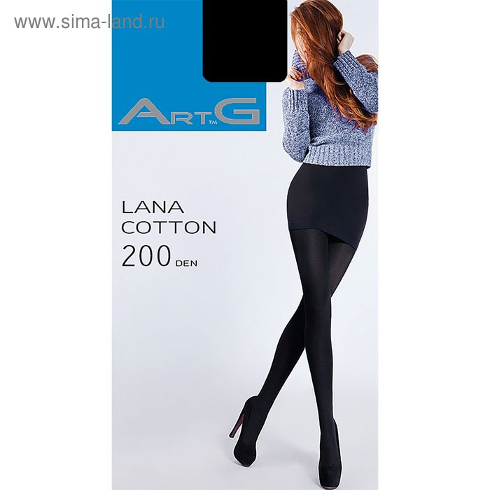 Колготки женские ARTG LANA COTTON 200 (nero, 4)