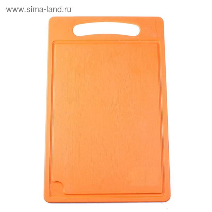 Доска разделочная 45х28 см, цвет оранжевый