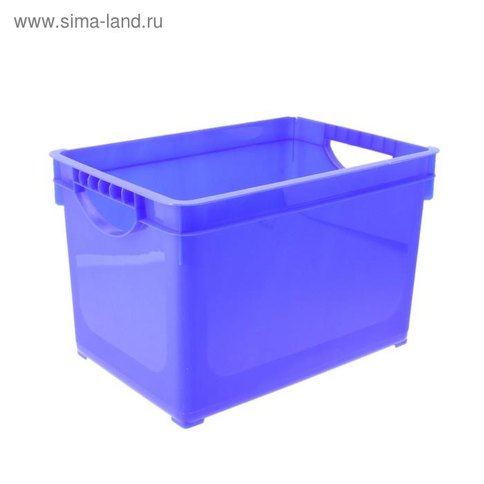 Ящик для хранения 19 л прямоугольный, цвет МИКС